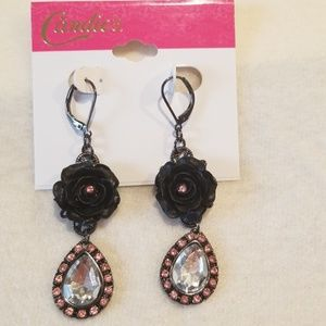 Candie's Black and Pink Earrings
